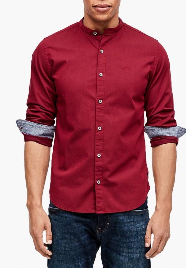 мужская рубашка с длинным рукавом s.oliver, красная