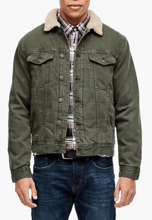 мужская джинсовые куртка s.oliver, зеленая