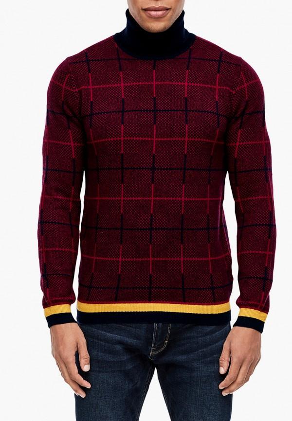 мужской свитер s.oliver, бордовый