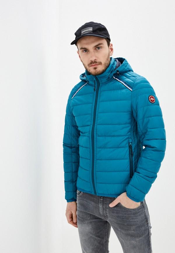 мужская утепленные куртка s.oliver, бирюзовая