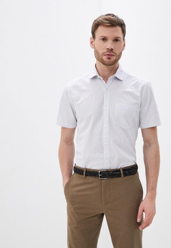 мужская рубашка с коротким рукавом s.oliver, белая