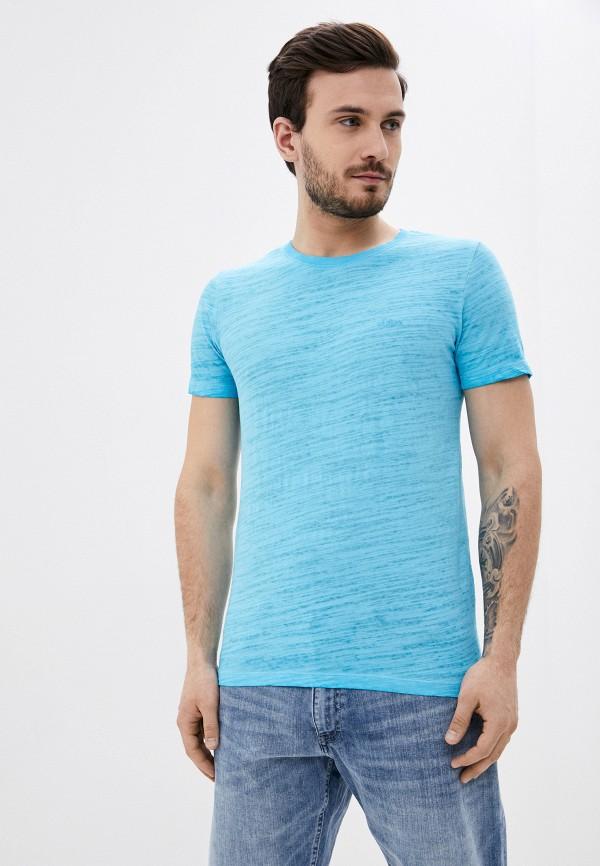 мужская футболка с коротким рукавом s.oliver, голубая
