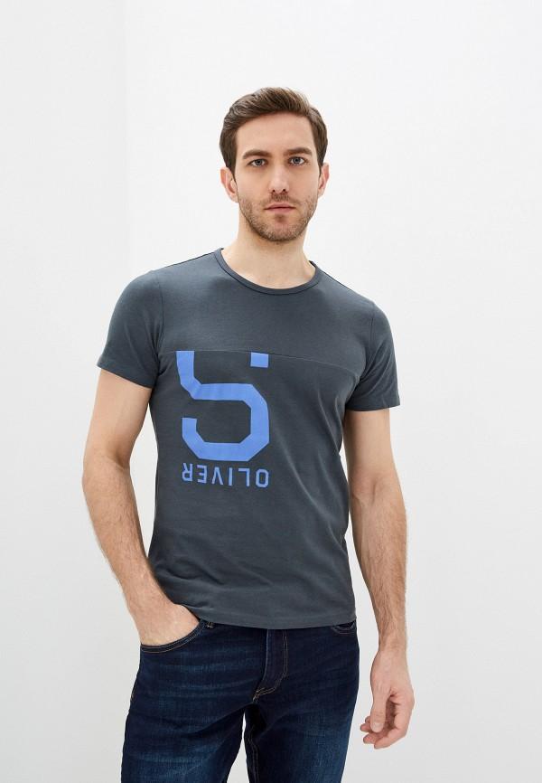 мужская футболка с коротким рукавом s.oliver, серая
