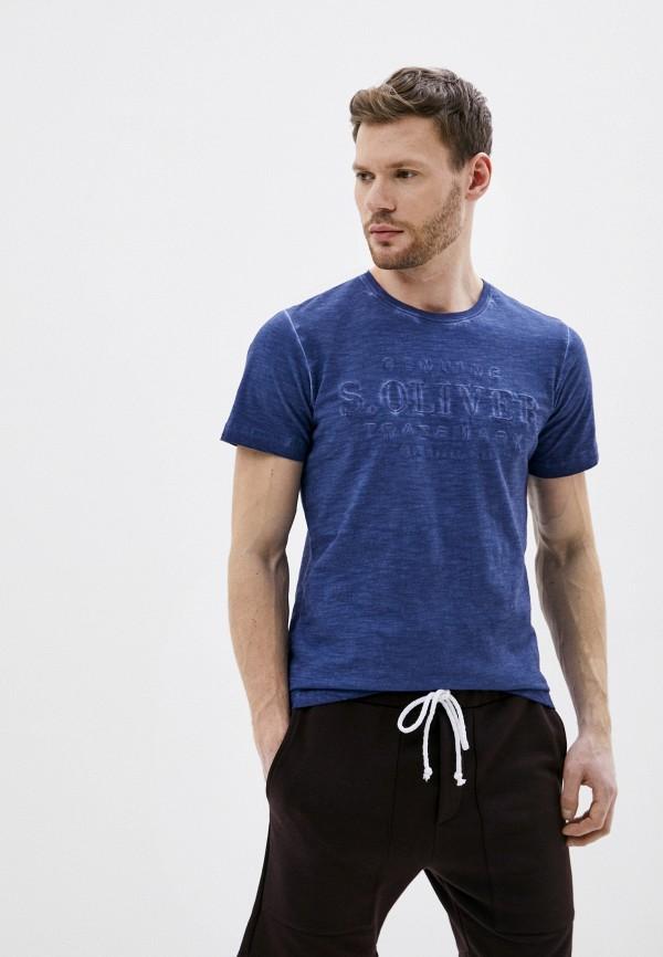 мужская футболка s.oliver, синяя
