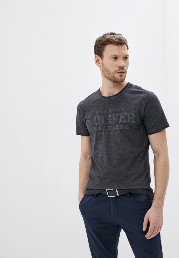 мужская футболка s.oliver, черная