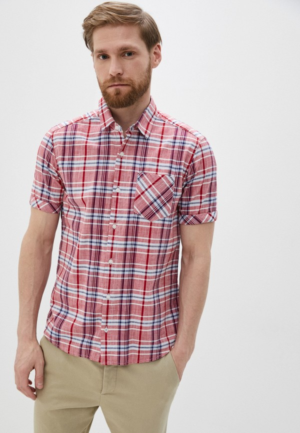 мужская рубашка с коротким рукавом s.oliver, красная