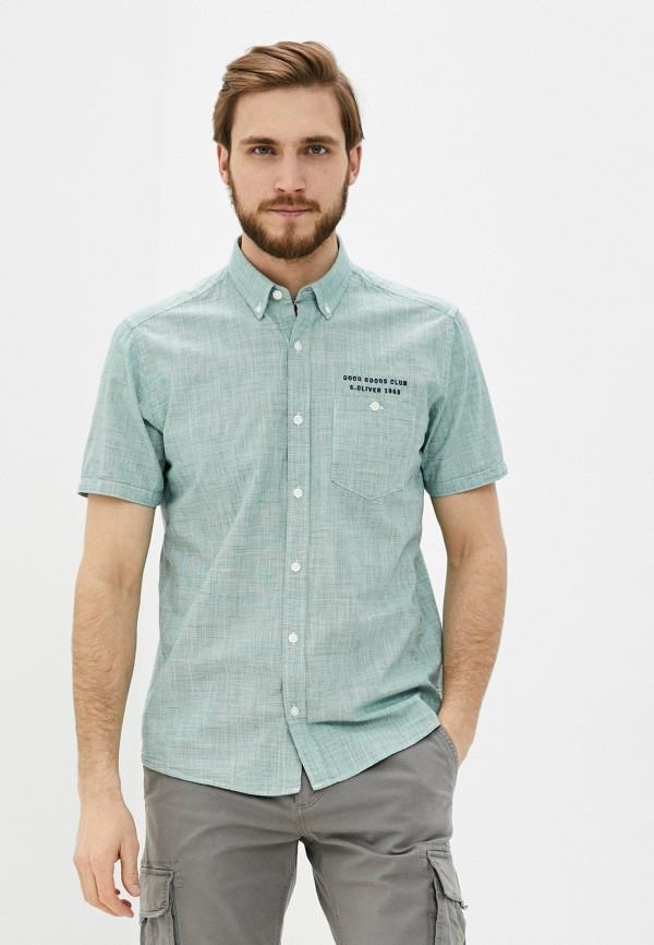 мужская рубашка s.oliver, зеленая