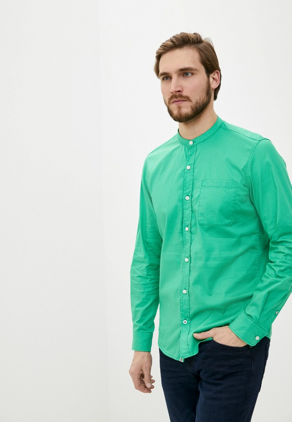 мужская рубашка с длинным рукавом s.oliver, зеленая