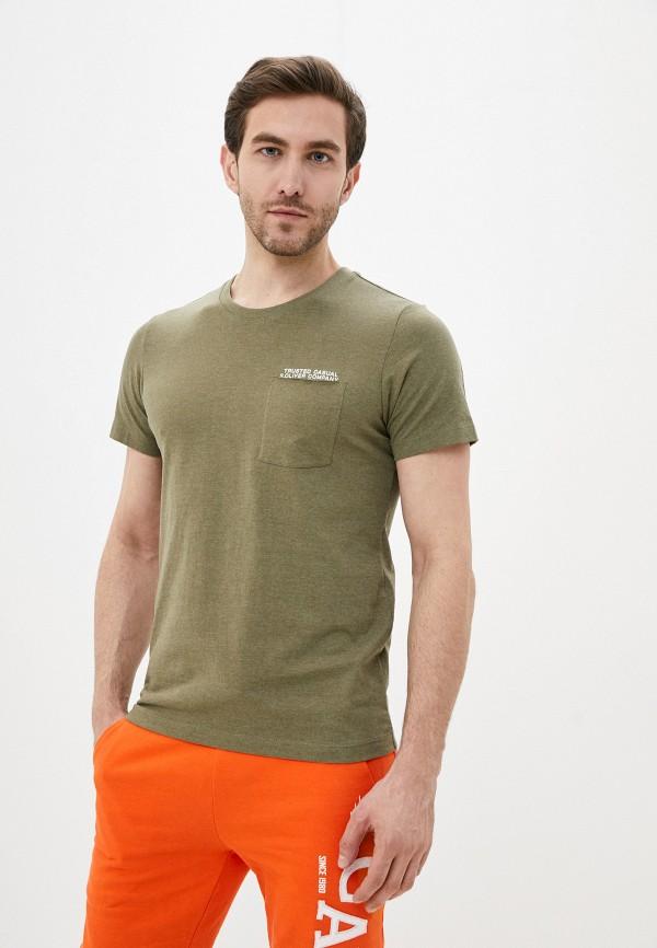 мужская футболка с коротким рукавом s.oliver, хаки