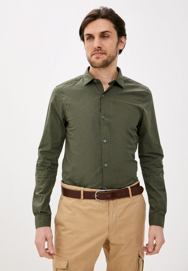 мужская рубашка с длинным рукавом s.oliver, хаки