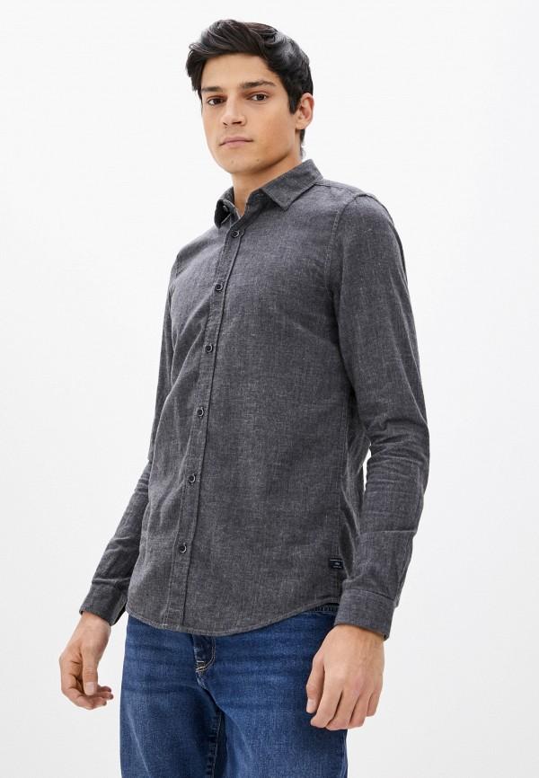 мужская рубашка с длинным рукавом s.oliver, серая