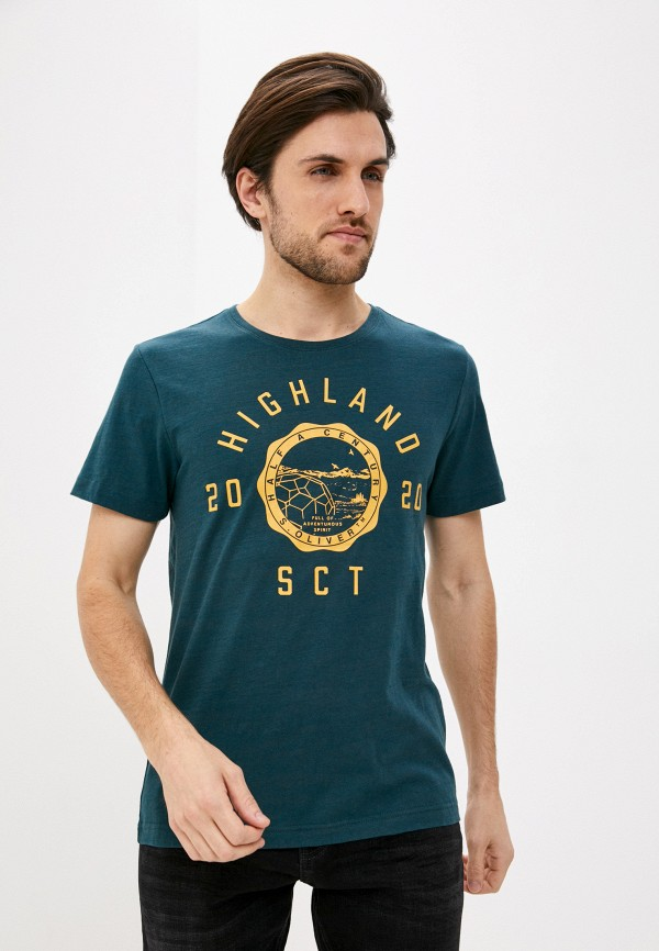 мужская футболка с коротким рукавом s.oliver, зеленая