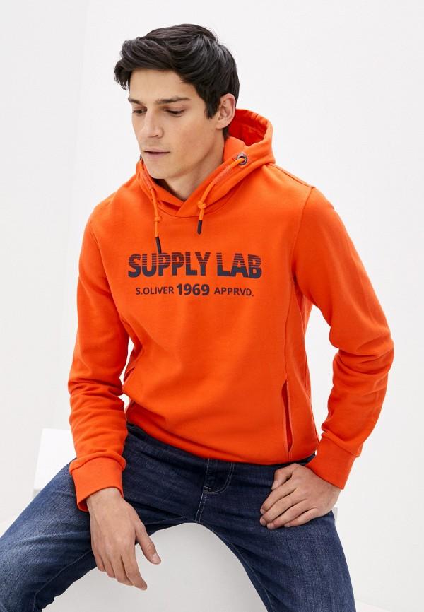 мужские худи s.oliver, оранжевые
