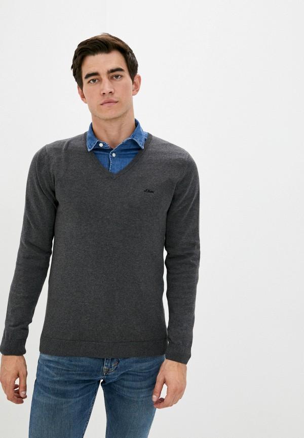 мужской пуловер s.oliver, серый