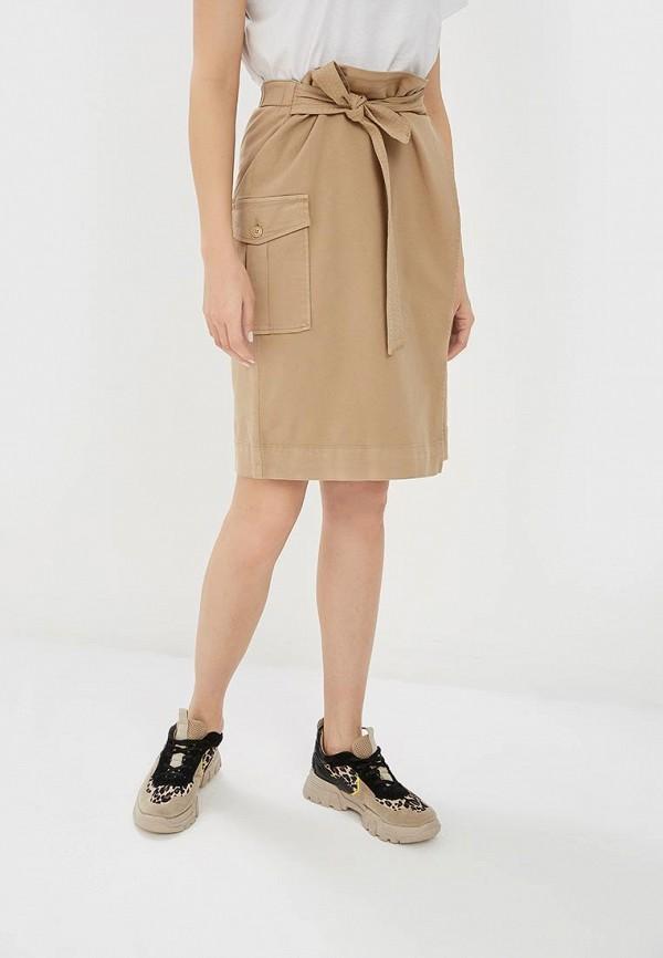 женская прямые юбка s.oliver, бежевая
