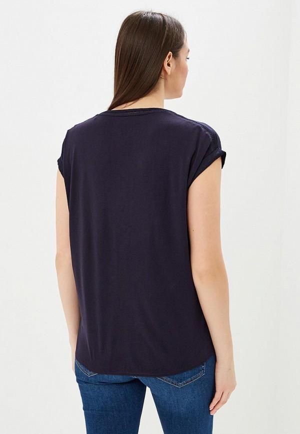 Фото 3 - женскую блузку s.Oliver синего цвета