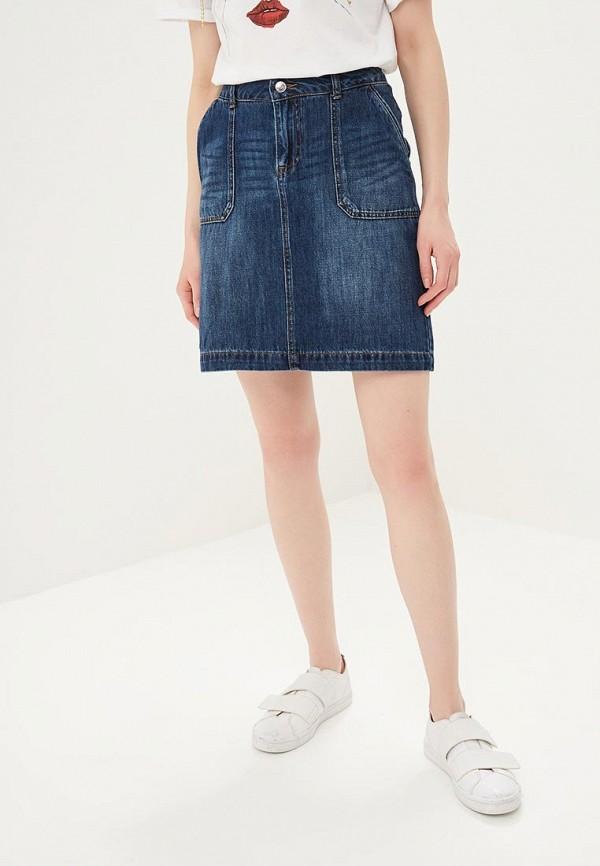 женская джинсовые юбка s.oliver, синяя