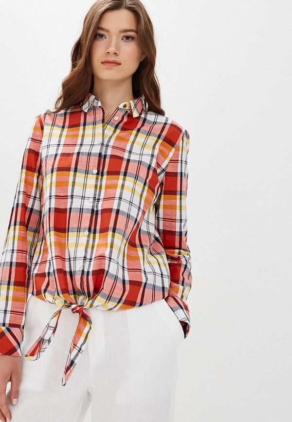 женская рубашка с длинным рукавом s.oliver, красная