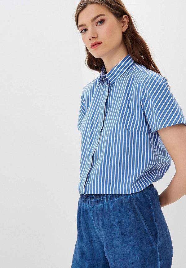 женская рубашка с коротким рукавом s.oliver, синяя