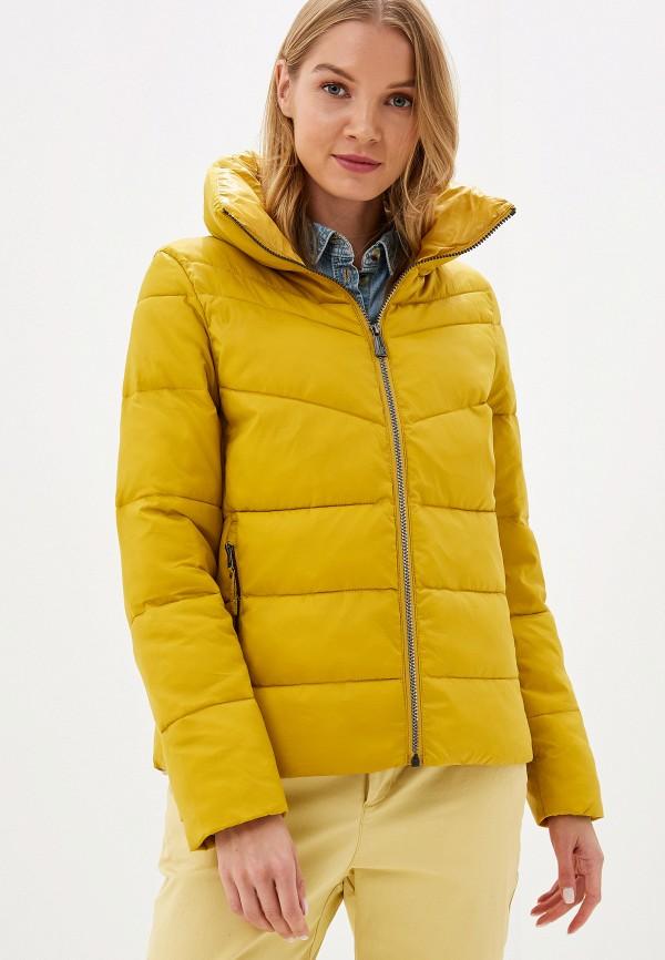 женская куртка s.oliver, желтая