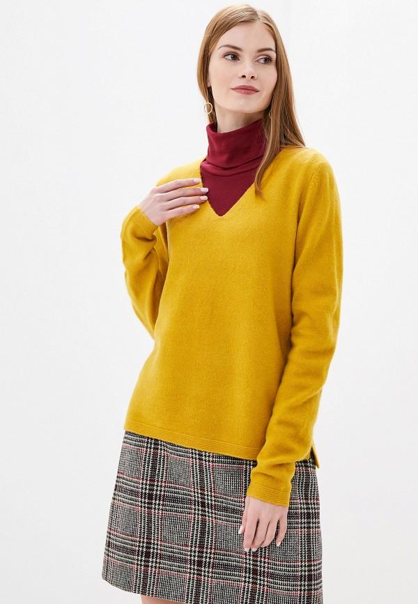 женский пуловер s.oliver, желтый