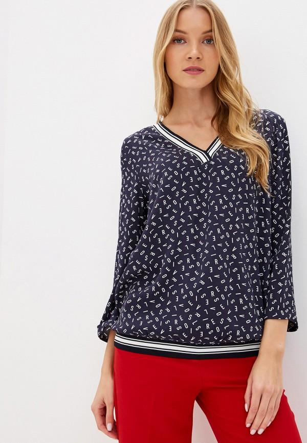 женская блузка s.oliver, синяя