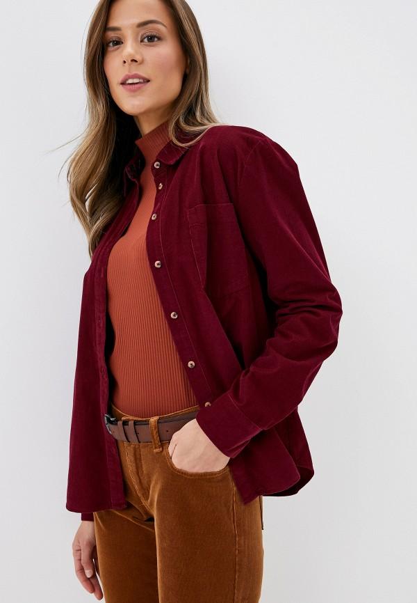 женская рубашка с длинным рукавом s.oliver, бордовая