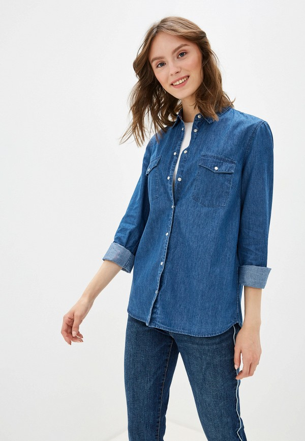женская джинсовые рубашка s.oliver, голубая
