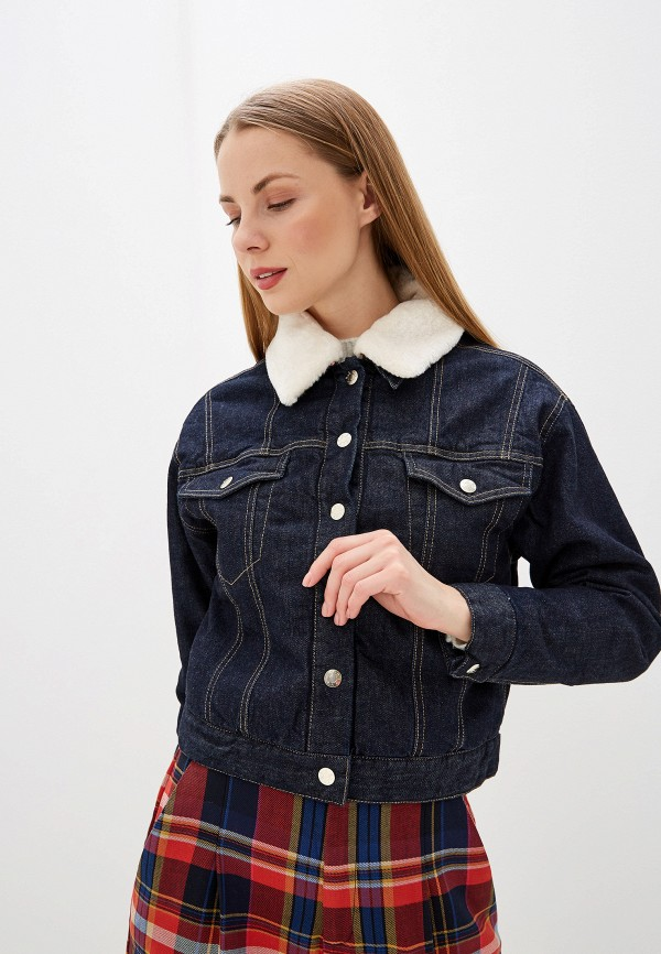 женская джинсовые куртка s.oliver, синяя