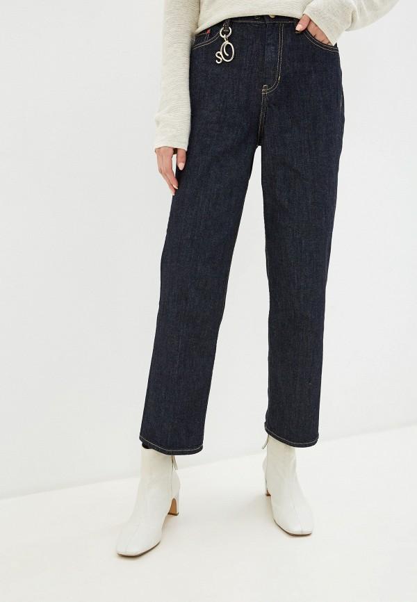 женские прямые джинсы s.oliver, синие