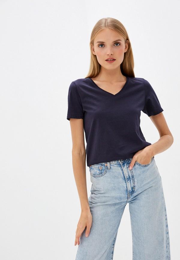 женская футболка s.oliver, синяя