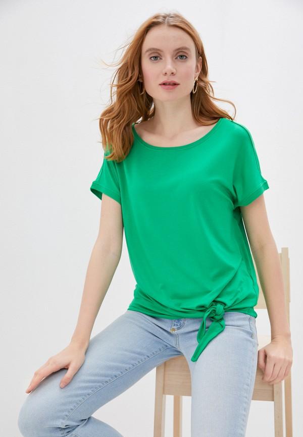 женская футболка s.oliver, зеленая