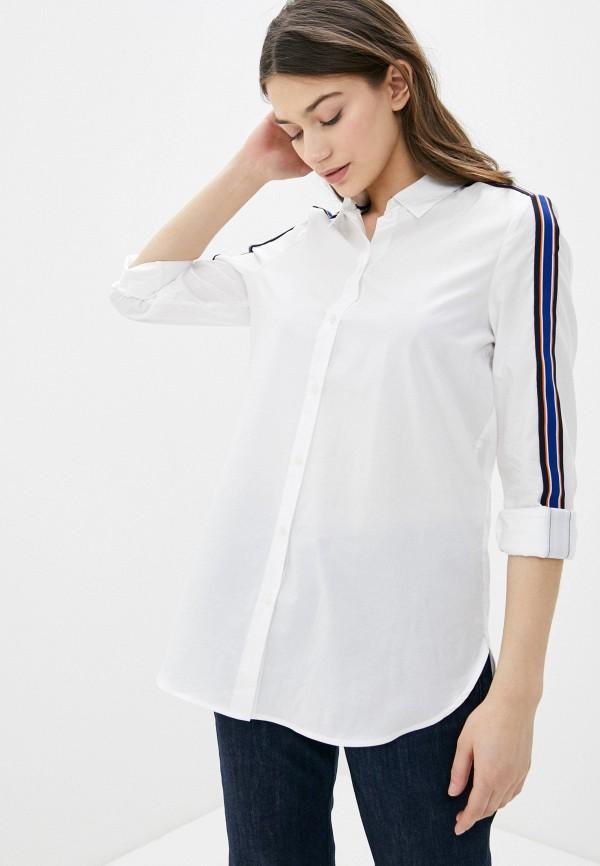 женская рубашка с длинным рукавом s.oliver, белая
