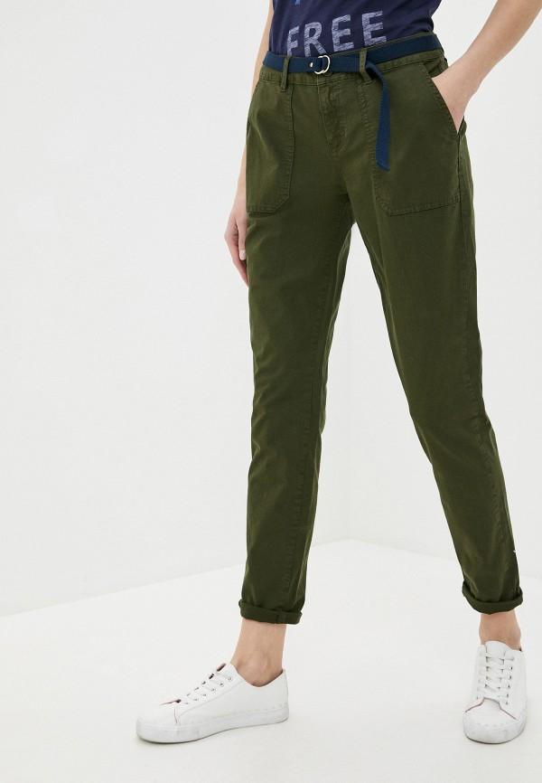женские повседневные брюки s.oliver, зеленые