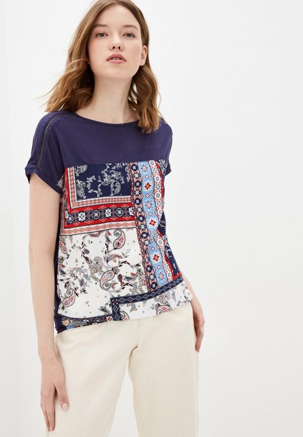женская спортивные футболка s.oliver, разноцветная