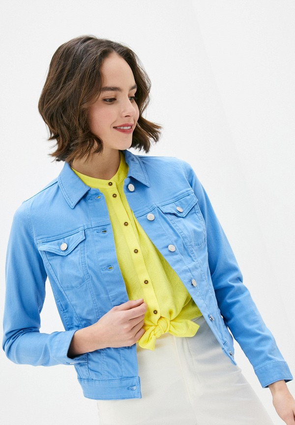 женская джинсовые куртка s.oliver, голубая