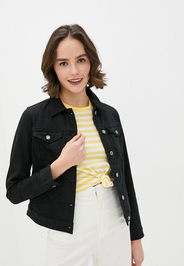 женская джинсовые куртка s.oliver, черная
