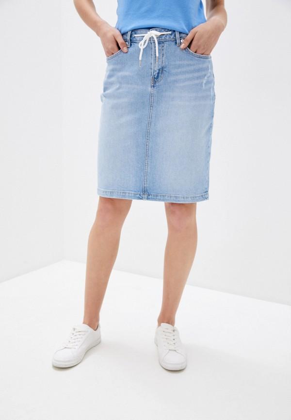 женская джинсовые юбка s.oliver, голубая
