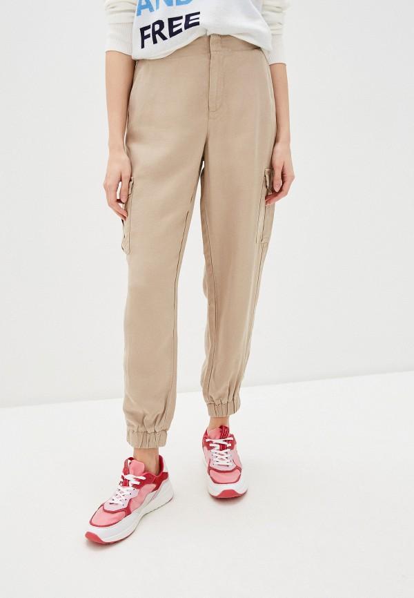 женские брюки s.oliver, бежевые