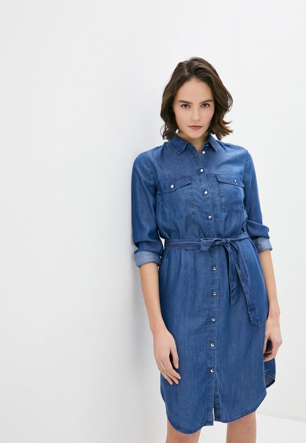 женское джинсовые платье s.oliver, синее
