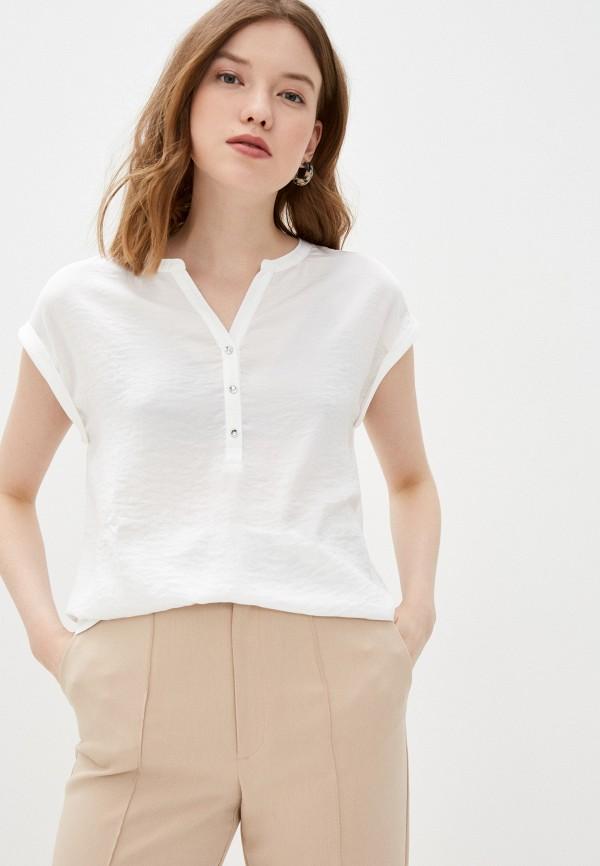 женская блузка с коротким рукавом s.oliver, белая