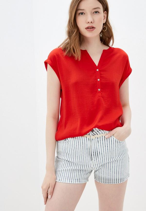 женская блузка с коротким рукавом s.oliver, красная