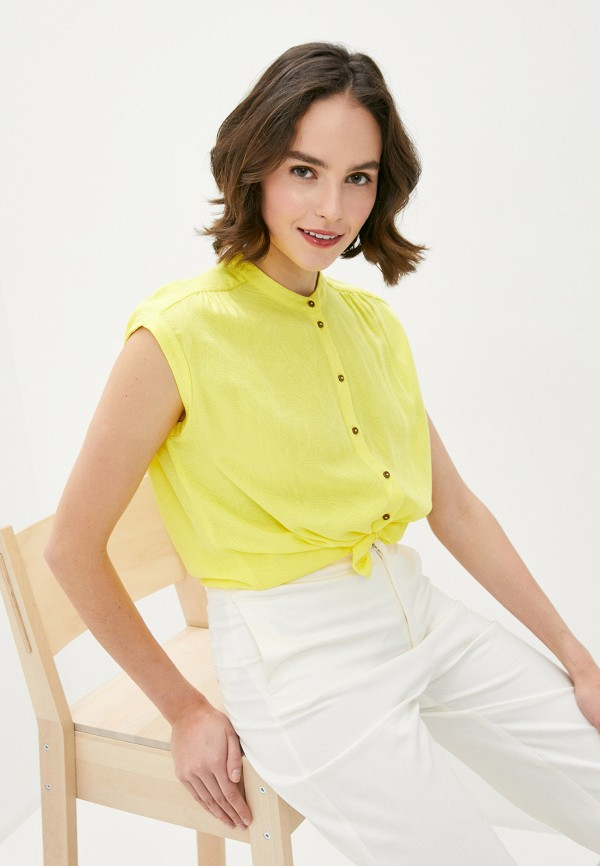 женская блузка s.oliver, желтая