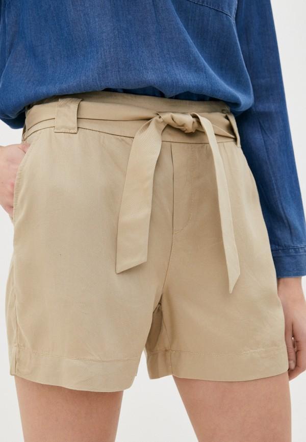 женские повседневные шорты s.oliver, бежевые