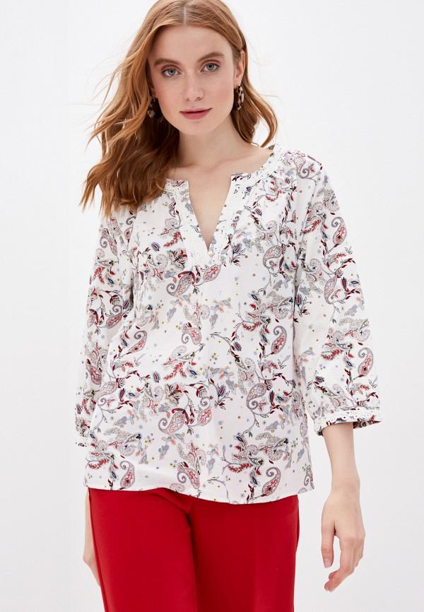 женская блузка с длинным рукавом s.oliver, белая