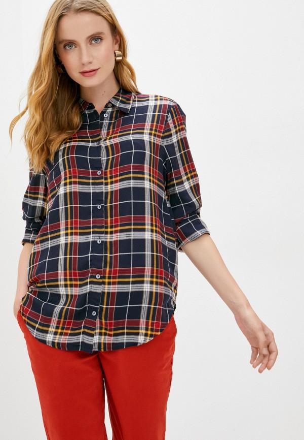 женская рубашка с длинным рукавом s.oliver, синяя