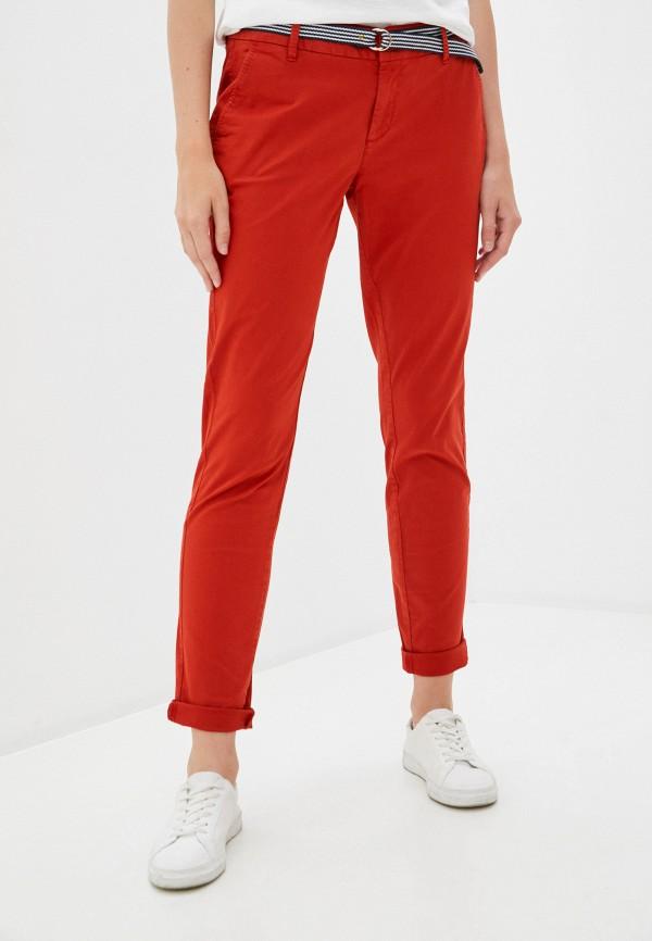 женские повседневные брюки s.oliver, оранжевые