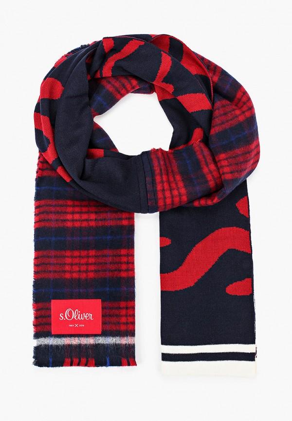 мужской шарф s.oliver, красный