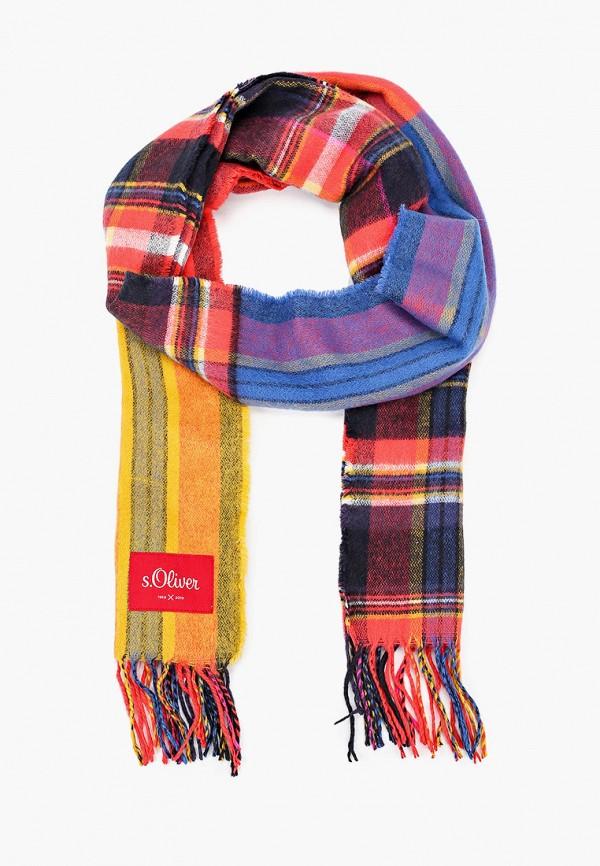 женский шарф s.oliver, разноцветный