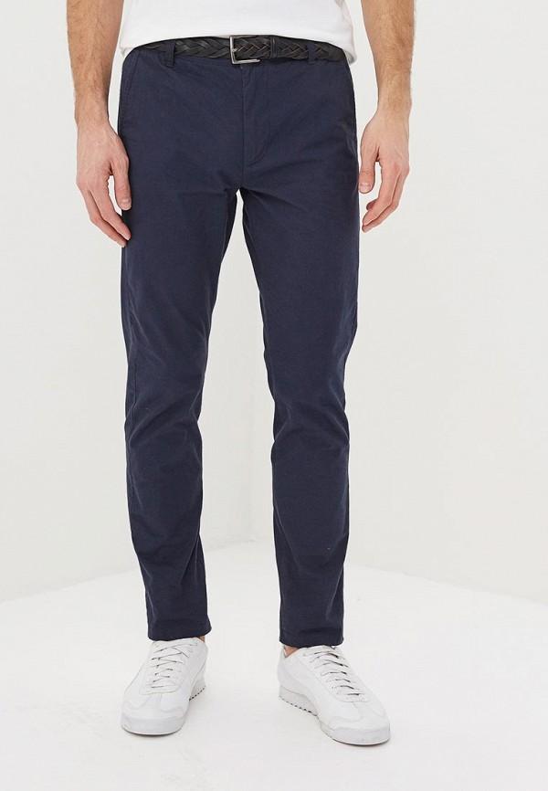 мужские повседневные брюки solid, синие